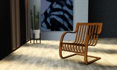 Perriand Bamboo Chair by Gelina - Sims 3 Downloads CC Caboodle