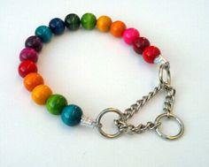 Rainbow The Next Generation Beaded Dog Collar by BeadieBabiez
