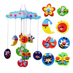 New Creative DIY Handmade EVA Craft Toy kits Windbell Hangings Stickers Educational Toys Puzzles Toy FCI#