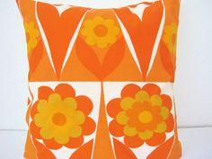 60s Heals Flowershop Cushion