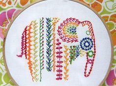Embroidery Sampler Elephant < Free PDF / tss