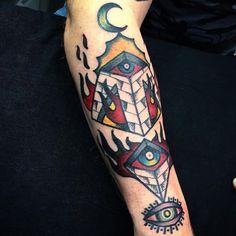 What does pyramid tattoo mean? We have pyramid tattoo ideas, designs, symbolism and we explain the meaning behind the tattoo. Pyramid Tattoo, Pyramid Eye, Tattoos, Eyes, Design, Tatuajes, Tattoo, Cat Eyes