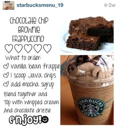 How to Make Your Favorite Starbucks Drink at Home How to Make Your Favorite Starbucks Drink at Home,Smoothies Starbucks chocolate chip brownie frappuccino Starbucks Frappuccino, Bebidas Do Starbucks, Secret Starbucks Recipes, Starbucks Secret Menu Items, Starbucks Hacks, Healthy Starbucks Drinks, Starbucks Secret Menu Drinks, Yummy Drinks, How To Make Frappuccino