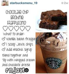 Starbucks chocolate chip brownie frappuccino