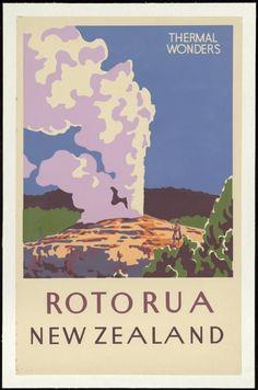 New Zealand. Tourist & Publicity Department :Thermal wonders, Rotorua, New Zealand [1930-1950s?]