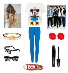 """Funny day with One Direction"" by ayat-cl ❤ liked on Polyvore featuring Ray-Ban, Converse, Ted Baker, Zara, L'Oréal Paris and Fornash"