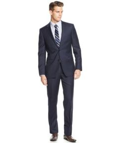 DKNY Navy Solid Extra-Slim-Fit Suit