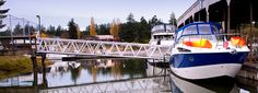 La Conner Marina.  Protected Slips 40 miles north of Seattle.  Small coastal town having great restaurants, bakeries, beer and clean facilities.