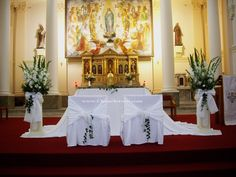 Decorating A Wedding Altar Church Decoration Ideas Pew Decorations Communion