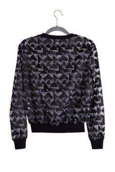 Organza sweatshirt in geometrical - FrontRowShop