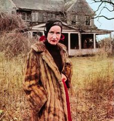 """Grey Gardens movie poster and the home of Edith Bouvier Beale, and her daughter, known as """"Little Edie,"""" who were living together in this broken-down family mansion in East Hampton. In 2009 the HBO movie """"Grey Gardens"""" told their story. Edith Bouvier Beale, Grey Gardens Movie, Gray Gardens, Grey Gardens Documentary, Documentary Film, Los Kennedy, Jackie Kennedy, Jackie O's, Edie Beale"""