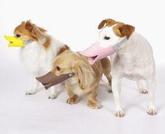 Duck-billed dog muzzle