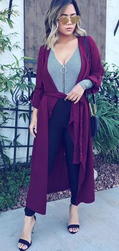 #winter #outfits maroon coat