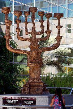 File:Menorah at the Ben Gurion Airport in Tel Aviv.jpg