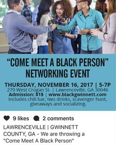 Yup this is real. Right in the town I live in #lawrencevillega  #scaredwhitepeople #supportblackbusiness #networking odd way of creating dialogue