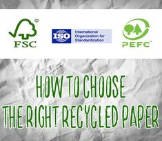 how to choose recycled paper - making sense of paper labelling Eco Green, Reduce Reuse Recycle, Recycling, Paper, Heart, Blog, Upcycle, Hearts