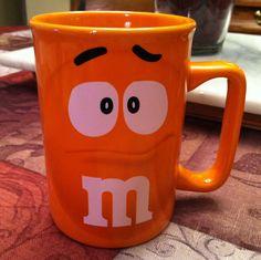 Orange M & M Mug