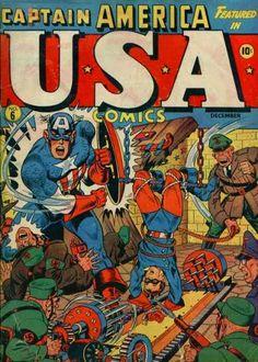 USA Comics 5 Captain America golden age Atlas Marvel comics