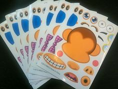 cute to put with party favors 12 MYO Mod Monkey Zoo Stickers Party Favors Circus Jungle | eBay