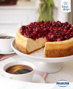 Try and not imagine how many compliments you'll get at your holiday party with this Cranberry Glazed Cinnamon Cheesecake.