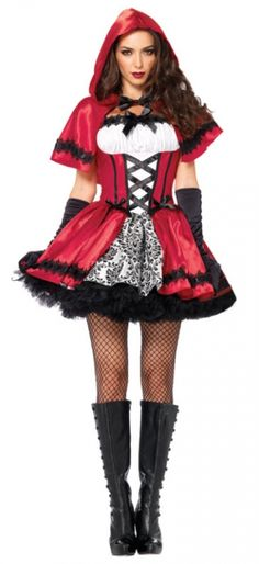 Gothic Red Riding Hood Costume