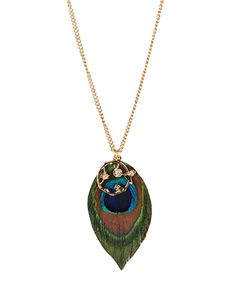 Birds of a Feather Necklace - $4.80 #peacock