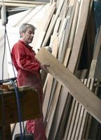 Standard stock lumber can be used for sturdy Murphy beds.