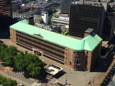 2017. Rotterdamsebank tot 1974 daarna ABN Amro.Foto vanaf het WTC dak Rotterdam, Netherlands, Dutch, Europe, Mansions, Architecture, House Styles, Places, Pictures