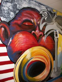 SC Visual and Performing Artist mural (Dizzy Gillespie)