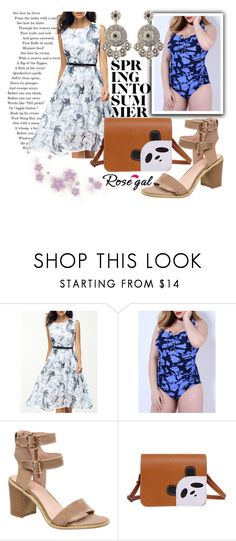 """""""Summer chic 39."""" by merimaa997 ❤ liked on Polyvore featuring Summer, Elegant, fashionset, newchic and rosegal"""