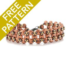 Chrysalis Bracelet Pattern for CzechMates by Jennifer Schroeder