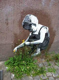 When street-art meets nature