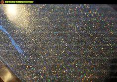 Seven Sins New PRISM holographic metalflake #prism #metalflake #silver #irridescent #sevensinschoppers #sparkle #60's #70's #guitar #bass #fender #gibson #gretch #hotrod #chopper #paint #art #shimmer