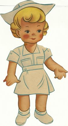Who's up for some good old-fashioned Nurse paper dolls? Description from buckscountyfolkart.blogspot.com. I searched for this on bing.com/images