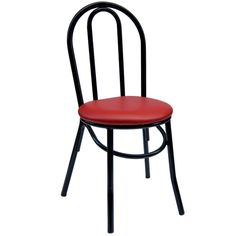 RoyalIndustries,Inc. Bistro Upholstered Dining Chair (Set of Upholstery Colour: Black Metal Bistro Chairs, Vintage Dining Chairs, Solid Wood Dining Chairs, Upholstered Dining Chairs, Dining Chair Set, Dining Room Furniture, Restaurant Furniture, Restaurant Chairs, Modern Rustic Interiors