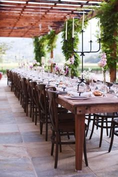 I like long tables for seating because ultimately you don't have to worry about who sits with who...but would people find it less appealing?