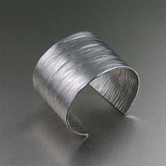 Aluminum Bark Cuff by johnsbrana on Etsy, $65.00