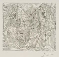 Pablo Picasso - Deux femmes assises, 1938, Etching