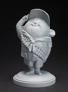 Greg Dykstra, Russell (Up, 2009), resina de uretano fundida. © Disney/Pixar.