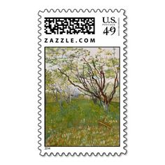 Flowering Orchard by Vincent Van Gogh Stamps