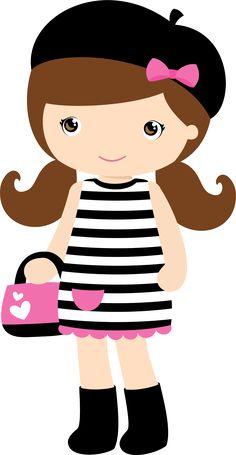 MENINAS * BONECAS Paris Birthday Parties, Paris Party, Cute Little Girls, Cute Kids, Alice In Wonderland Cross Stitch, Unicorn Farts, Avatar Cartoon, Cupcake Drawing, Dibujos Cute