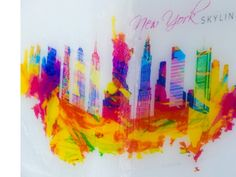 New York skyline. Multi-wick candle made by Monna Candles