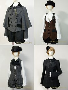 These Victorian style Gothic Lolita outfits remind me so much of Sherlock; they look adorable!!