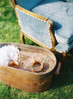 Fun confetti: http://www.stylemepretty.com/2015/03/23/green-gables-whimsical-outdoor-wedding/   Photography: Joey Kennedy - http://joeykennedyphotography.com/