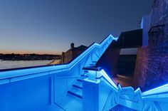 Royal William Yard Staircase, by Gillespie Yunnie Architects, helps people navigate a harb...