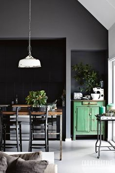 Country Style magazine. A modern design sense infused with nostalgia created Grey Gardens, a house at Chewton, in Victoria's goldfields. Photography Sharyn Cairns #countrystyle #countrykitchen