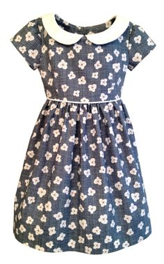 GIRLS DRESS PATTERN, The Vintage Kate Dress, sizes included to fit ages 2-6, instant digital download, darling Peter Pan collar