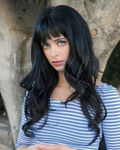 Blue Black Hair - Love This Color and Cut! #ditalu
