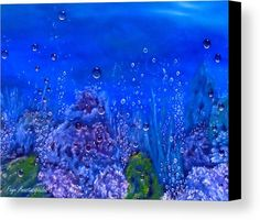 Coral Fleece Blanket featuring the painting Coral Reef by Faye Anastasopoulou Coral Reef Art, Wall Art Prints, Canvas Prints, Fine Art Posters, Theme Pictures, Art For Sale Online, Artwork Images, Picture Design, Wood Print