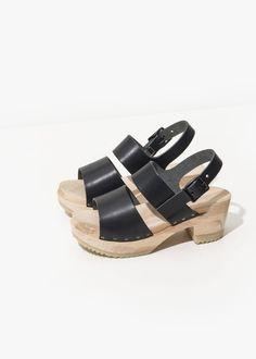 3472cf0a8002 CLOG SANDAL – BLACK – Zuzii Footwear – Made in LA